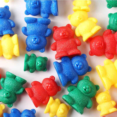 Hot Sales Toy Children Education Puzzle Toy Plastic Color Sorting Bears Toys