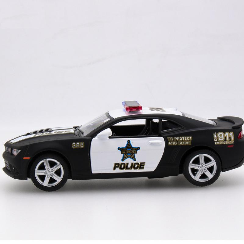 Police Edition Diecast Metal Pull Back Car Model Toy Collection Gift For Kids