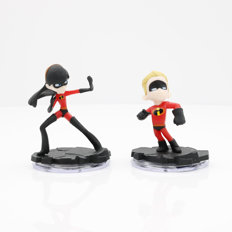 6pcs/set The Credibles 2 Family Junior Supers Action Figures Mr.Dash Parr Jack Parr Elastigirl figure action