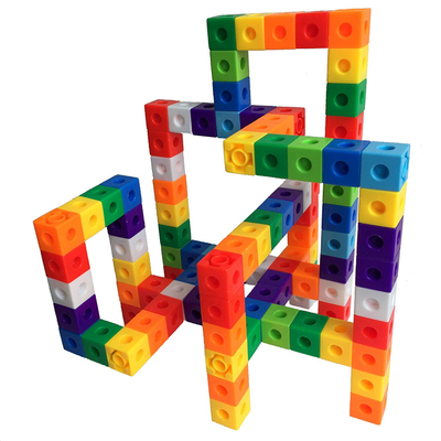 10 Color Building Blocks Puzzles Educational Learning Toys Interlocking Solid Gear Set
