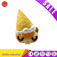 Customized Eco-Friendly Miniature Cute Cartoon Figures Ice Cream Cat Figure Decoraction