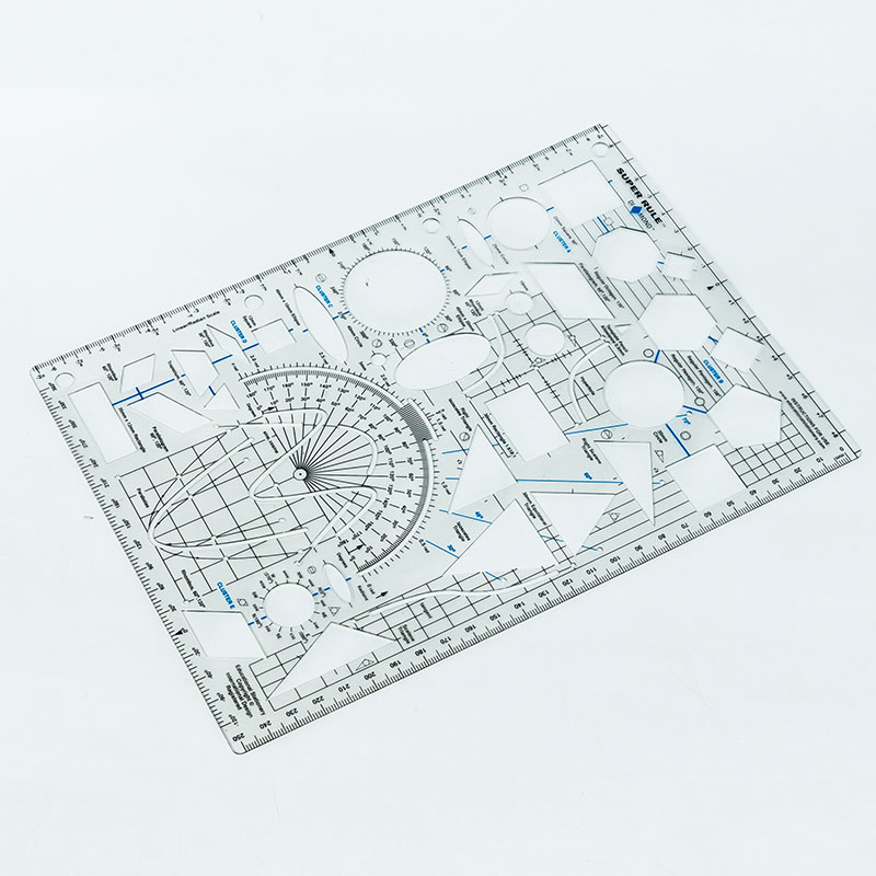 Wholesale School Geometric Ruler Plastic Ruler with High Quality and Low Price