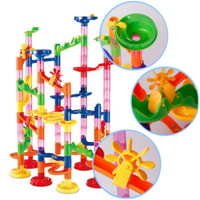 DIY Creative Assemble Kit Toys Block Toys Set Track Ball Roll Construction Building Blocks for Children Learning and Educational Game