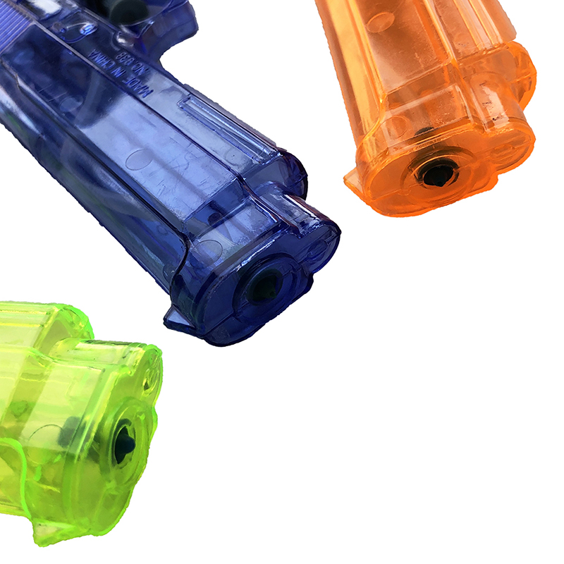 Customized Factory Made Make Your Own Design Transparent Colorful Water Squirting Blasters Squirt Water Gun Toys