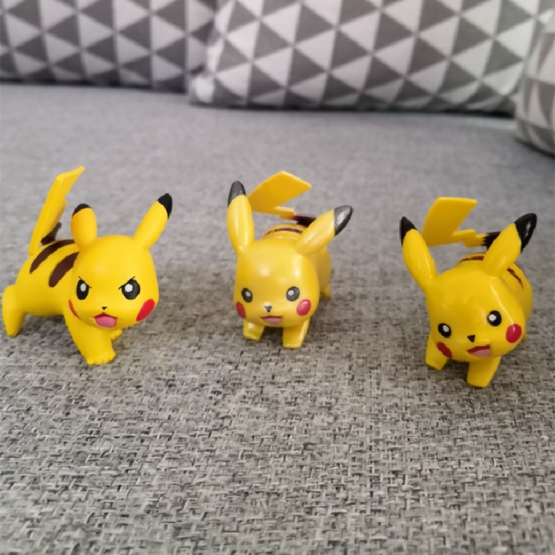 Cartoon Figure Toys New Anime Action PVC Pikachu Figures Collection Toy Figure for Kids