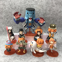 One Piece Custom Happy Halloween Day Japanese Style Collectible Vinyl Toys Plastic Material Luffy Anime Action Figure for Promotion