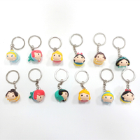 Amazing Cute Small Doll of Mini PVC/Plastic Cartoon Characters Heads Keychain