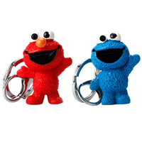 Cartoon Anime Sesame Street PVC Figure Keychain Cute Monster Toys Dolls Key Chain