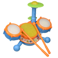 Hot Sale Plastic Light Music Instrument Cheap Instruments Musical Toy Hand Drum