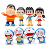 Funny Classic Japanese Cartoon Characters Doll Ornaments Party Favor Decoration Doreamon Action Figure for Kids Cupcake Cake Toppers