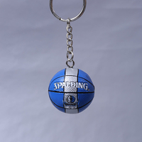 Promotional Gift OEM/ODM 3D Plastic Mini Basketball Toy Keychain for Decoration