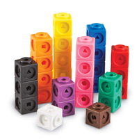 PE Plastic sorting and counting snap cube blocks toys educational toys for kid