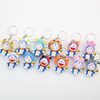 Japan Miniature Animal Cartoon Shape Plastic Key Ring, Plastic Keychain