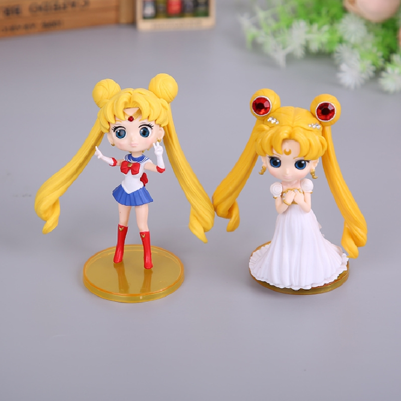 Customize Girls Like Lovely Sailor Moon Plastic Anime Action Figure