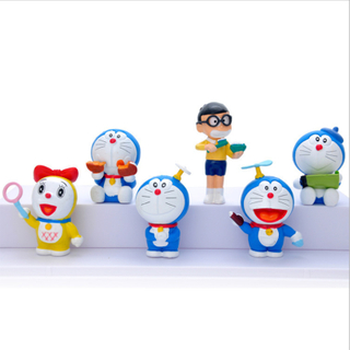 Classic Japanese Cartoon Character Vinyl Doraemon Action Figure PVC Collection Doll Model Figurines Toys Children Kid Gift Collection